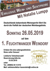 26.05.2019 - Wein- und Sektprobe mit Natalie Lumpp / Sektmanufaktur Hasenstein